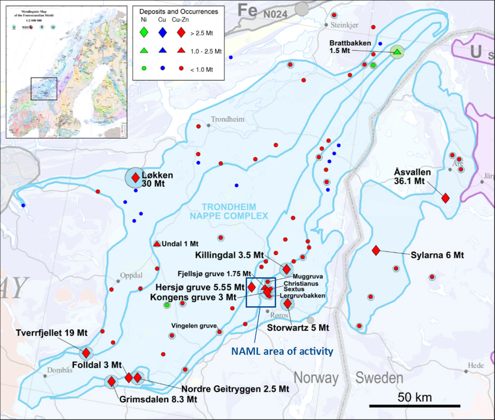 COPPER-ZINC DEPOSITS IN THE TRONDHEIM NAPPE COMPLEX